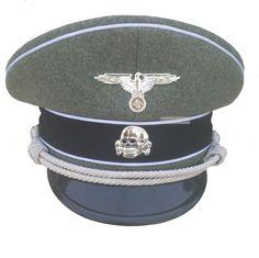 8cab79ca546 WWII WW2 GERMAN LUFTWAFFE OFFICER ELITE HAT BLUE CAP FIELD GREY