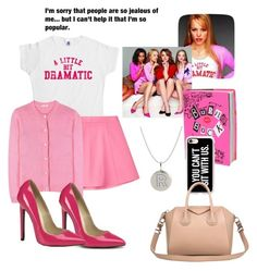 """""""mean girls"""" by averieramos ❤ liked on Polyvore featuring RED Valentino, Miu Miu, Casetify and Givenchy"""