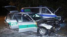 Tag der Einheit Drei Polizeiautos in Dresden angezündet - ZEIT ONLINE