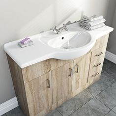 Sienna oak vanity unit and basin Bathroom Designs India, New Bathroom Ideas, Contemporary Bathroom Furniture, Oak Vanity Unit, Bathroom Storage Units, Storage Solutions, Basin, Bathrooms, The Unit