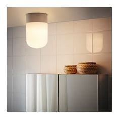 IKEA - ÖSTANÅ, Ceiling/wall lamp, , Gives a diffused light which is good for spreading light into larger areas of a bathroom.