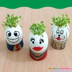Yeşillenmiş Yumurta Kafalar - OKUL ÖNCESİ ETKİNLİKLERİ - Hayallerinizi Sınırlamayın