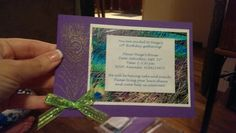 Homemade peacock invitations!