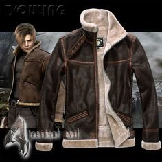 Cheap leather coat, Buy Quality leon s kennedy directly from China coats leather jackets Suppliers: Biohazard Resident Evil 4 Leon S Kennedy Costume Leather Coat Jacket Cosplay PU Faur Jacket Long-sleeve Winter Outerwear Coat Leon S Kennedy, Moda Men, Trench Coat Men, Cosplay, Fashion Night, Resident Evil, Leather Men, Lambskin Leather, Leather Coats