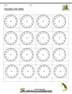 Worksheets Blank Clock Face Worksheet Printable clock worksheets blank and on pinterest