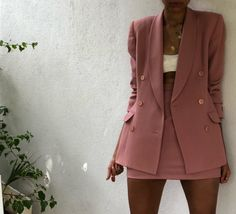 blue blazer outfits for women classy Vintage Outfits, Classy Outfits, Casual Outfits, Vintage Fashion, Vintage Womens Clothing, Pink Blazer Outfits, Blazer Dress, Dress Outfits, Mode Outfits