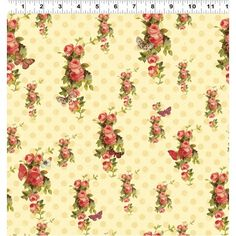 Devotion - Collections Iron Orchid Designs Cream Floral Fabric