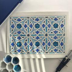Islamic geometric design watercolor