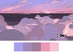 steven universe color palette at DuckDuckGo Paint Color Palettes, Colour Pallette, Digital Painting Tutorials, Digital Art Tutorial, Steven Universe Background, Palette Art, Animation Tutorial, Cartoon Background, Cartoon Network