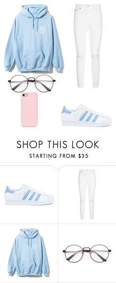"""""""Untitled #4"""" by nesiv ❤ liked on Polyvore featuring adidas and AG Adriano Goldschmied"""