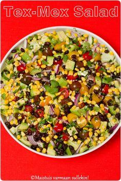 Maistuis varmaan sullekin!: Tex-Mex salaatti Tex Mex, Cobb Salad, Food, Essen, Meals, Yemek, Eten