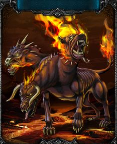 The final creature of the event is the terrible hellhound! If you're up to the challenge find them in @Battleknight