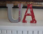 University of Alabama Wooden Vintage Shelf/Mantle Letters