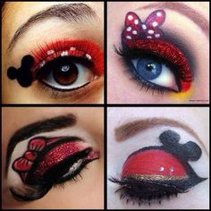 Disney makeup - minnie mouse