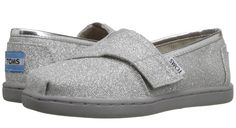 metallic shoes for kids   silver TOMS slip-ons
