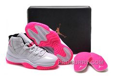 newest 72a3b b4ebe 2016 Girls Air Jordan 11 White Pink Shoes For Sale Online