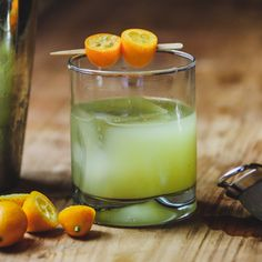 Kumquat Smash: Created by Dimitris Kiakos of the Gin Joint in Athens, Greece, the Kumquat Smash muddles the small yet flavor-rich citrus fruit into a refreshing gin base.