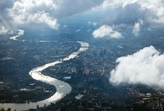 Thames, London - Since the early Middle Ages, the city has been expanding into the river, narrowing its course. The city has had adequate defenses against flooding only since the Thames Barrier was built in 1983. But that might not be enough to protect against rising seas.