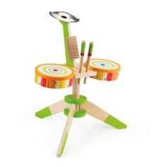 Rock & Rhythm Band at Hape Toys.a great addition to her regular drums and xylophone! Toddler Boy Toys, Kids Toys, Toddler Music, Kids Music, Baby Boys, Kids Drum Set, Drum Sets, Baby Drum Set, Hape Toys