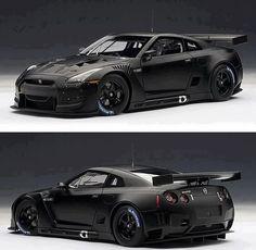 Visit The MACHINE Shop Café... ❤ Best of Nissan @ MACHINE ❤ (Black Nissan Skyline GT-R R35)