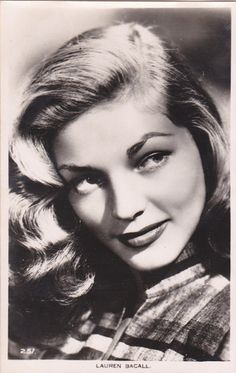LAUREN BACALL - 1950s movie star/actress posed GLAMOUR postcard