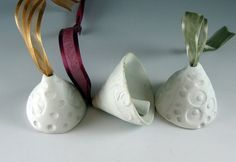 Ceramic  Bells /  Bells / White / Porcelain / by Botanic2Ceramic, $22.00