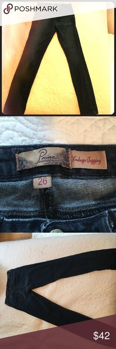 Paige verdigo jeggings Practically new size 26 Paige Verdugo Jeggings! They are dark denim and perfect to wear all year long. Paige Jeans Jeans Skinny