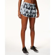 adidas M10 ClimaLite Printed Running Shorts ($32) ❤ liked on Polyvore featuring activewear, activewear shorts, adidas sportswear, adidas activewear and adidas