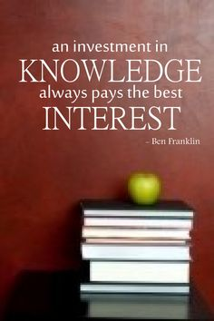 Ben Franklin Quote 'An Investment In Knowledge by InitialYou, $12.95