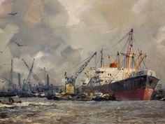 Nautical Painting, Boat Painting, Nautical Art, Advanced Higher Art, Tugboats, Old Sailing Ships, Ship Drawing, Ship Paintings, Boat Art