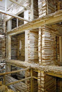 Arte e Arquitetura - Os 'muros abandonados' de Marjan Teeuwen.