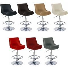 Modern Adjustable Counter Swivel Pub Style Bar Stools / Barstools #680 #Contemporary