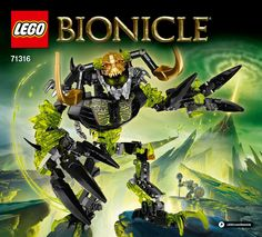 Bionicle Umarak The Destroyer 71316 by LEGO for sale online Building Blocks Toys, Building For Kids, Lego Bionicle, Sci Fi Fantasy, Fantasy World, Lego For Sale, Lego Jurassic, Jurassic Park, Lego Robot