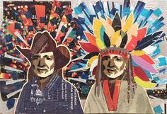 Willie as Cowboy & Indian VI -- 16 x 24in -- Mixed Media on Board -- $275 + $15 shipping -- CONTACT: blacksheepranchatx@gmail.com