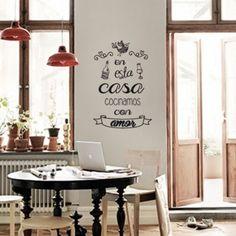 Gorsh.net | Vinilo En esta casa cocinamos con amor