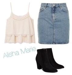"""Alisha Marie "" by sa-sarah ❤ liked on Polyvore featuring MANGO, Topshop and Billini"