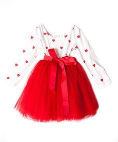 Look at this Designer Kidz Red Heart Tutu Dress - Infant, Toddler