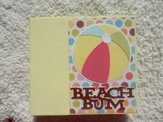 6x6 Beach Scrapbook by SimplyMemories on Etsy