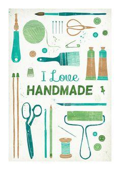 Art print from etsy! Aline ♥ I truly love everything handmade!