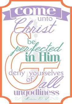 2014 YW/YM Theme - Come Unto Christ