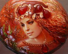 Сказочные Берегини ... миниатюры на камнях Светланы Беловодовой: alionushka1