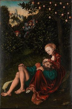 Samson and Delilah  Lucas Cranach the Elder  (German, Kronach 1472–1553 Weimar)  Medium: Oil on wood