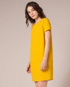 bright color, simple shift dress shape