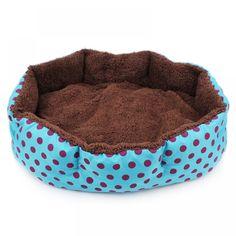 Hot Winter Warm Pet Dog Bed Soft Fleece Dot Design Pet Nest With Removable Pet Mat Octagon Shape Kennel Cat Puppy Free Shopping Warm Bed, Cozy Bed, Leopard Print Bedding, Cat Basket, Pet Mat, Cat Sleeping, Pet Beds, Small Dogs, Small Animals