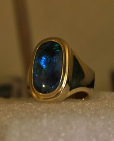 Black opal rings for men and women by Wishgrantor Black Opal Ring, Gold And Silver Rings, Blue Sapphire Rings, Silver Jewelry, Black Gems, Mens Ring Sizes, Australian Opal, Ring Designs, Rings For Men