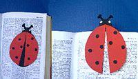 boekenlegger knutsel lieveheersbeestje