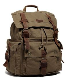 Black Friday Kattee Vintage Canvas Leather Hiking Travel Backpack Tote Bag Fit 17 Inch Laptop Army Green from Kattee Cyber Monday Brown Backpacks, Men's Backpacks, Vintage Backpacks, Canvas Backpacks, School Backpacks, Tote Backpack, Rucksack Backpack, Travel Backpack, Tote Bag