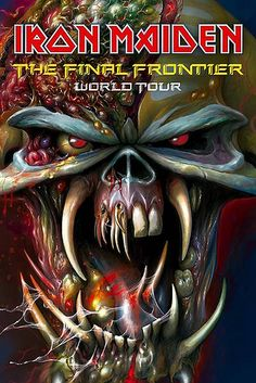 iron maiden tour posters | iron maiden the final frontier tour poster tour poster image for iron ...