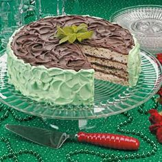 St. Patty's Day ... Minted Chocolate Torte