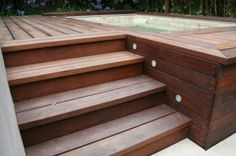 The deck I'm going to create around my spa.